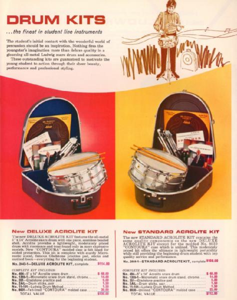1967 Ludwig Catalog Acrolite kits.png