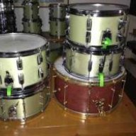 green glass drum