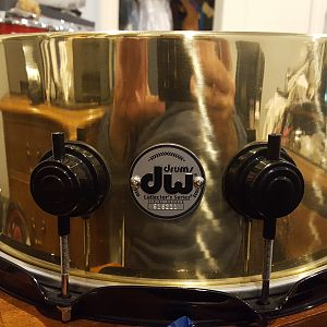 DW 6.5x14 brass Collectors snare