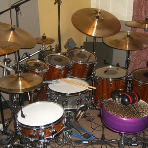 My Sonor SQ 2 Rosewood Veneer. Heavy Birch.