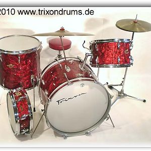 Trixon Luxus of the early 1960's in red pearl