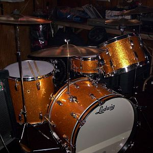 My 60's Ludwig Classic set with Eames snare