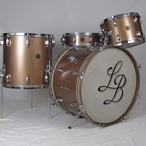 1950s Gretsch 3 Ply Drum Set Copper Mist