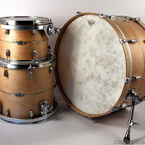 1-Ply maple, Abalone inlays, Brushed Nickel-look hardware.  13/16/26