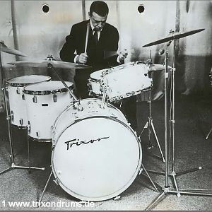 Buddy Rich at the Trixon factory