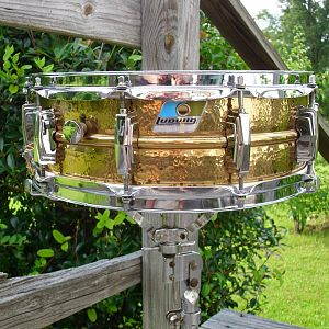 '80s ludwig 5x14 hammered bronze supra