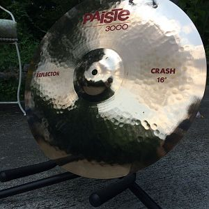 "Paiste 3000 Reflector 16"" crash top angle"