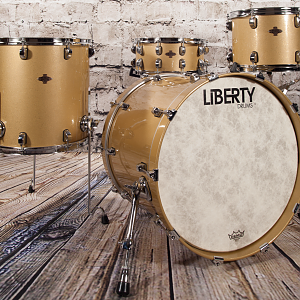 Liberty Drums - 4pc Rock Series Gold Sparkle