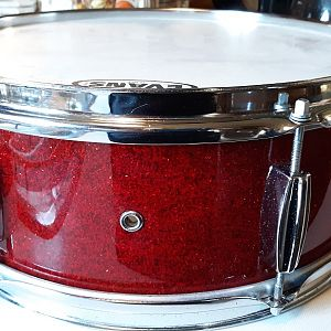 MIJ Red Sparkle snare