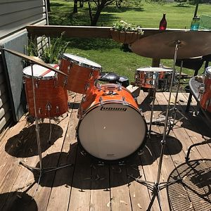 IMG_0354 1969 Ludwig Downbeat Mod Orange Original Set