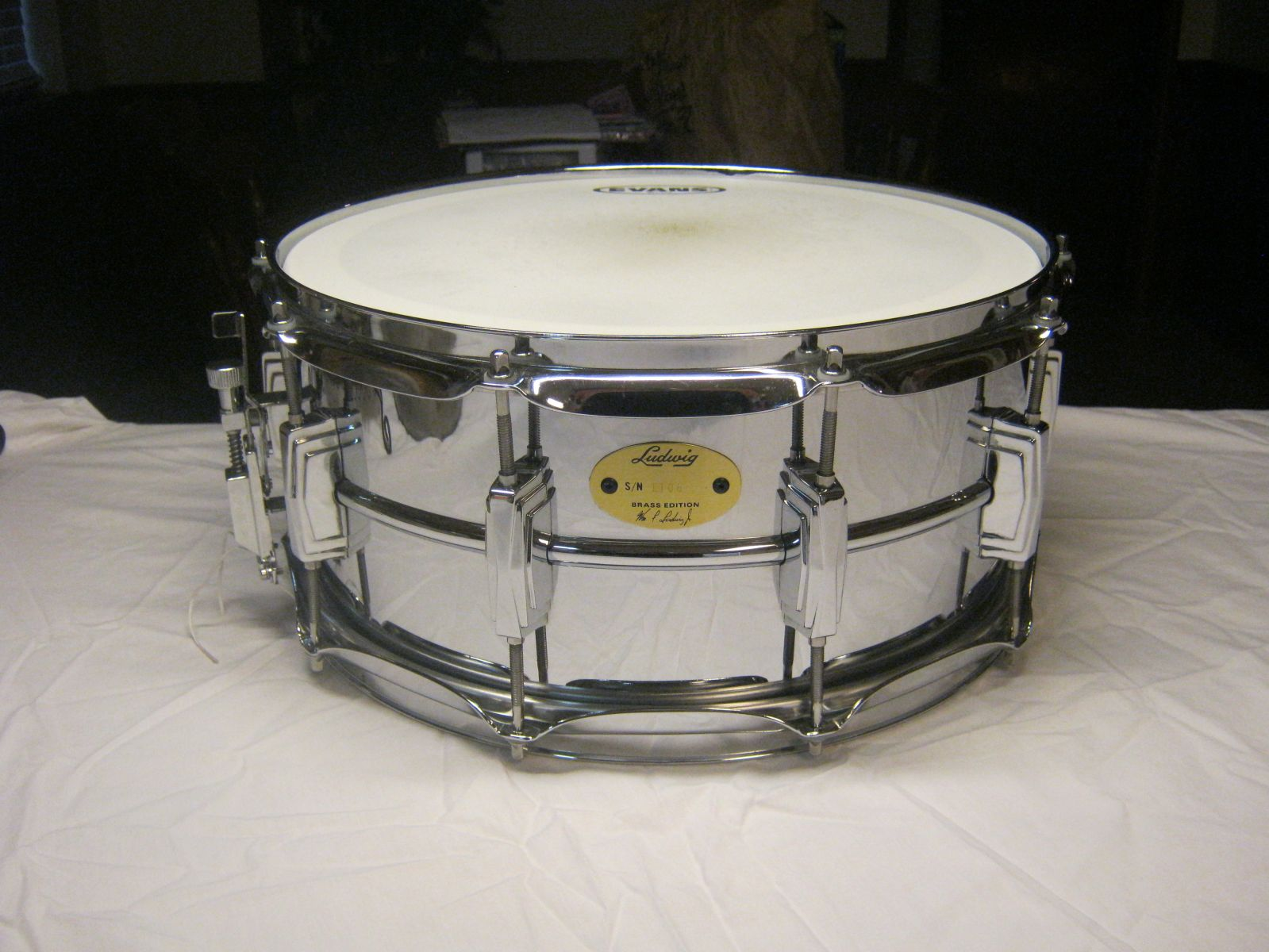 2005 Ludwig Chrome over Brass (COB) reissue 6.5 x 14