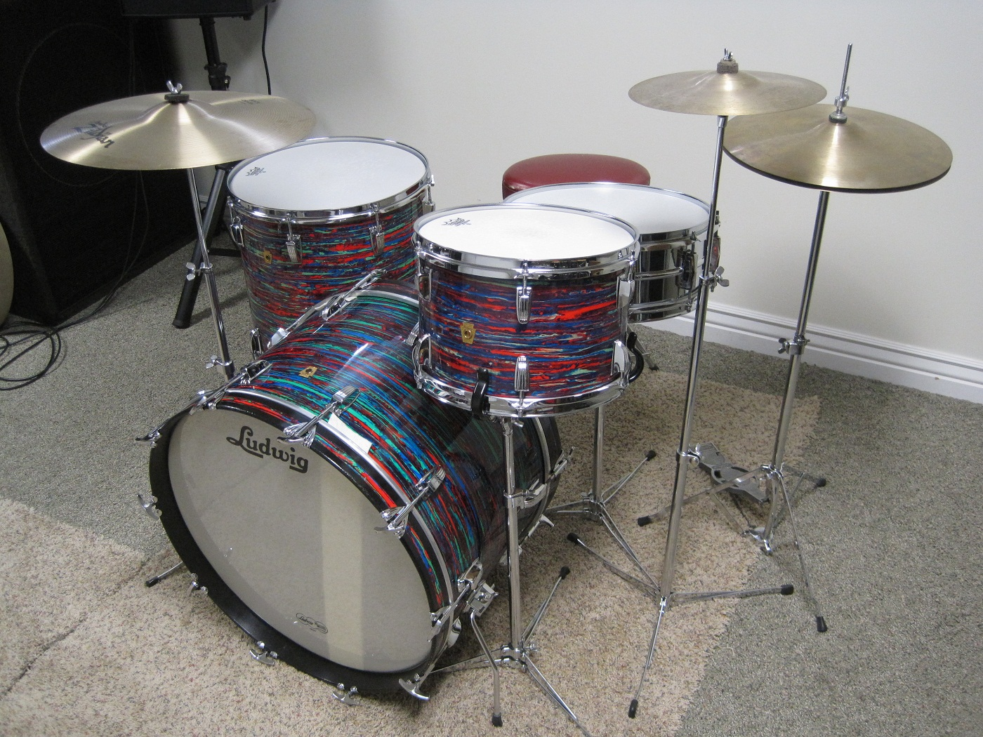 Psych red virgin bass drum